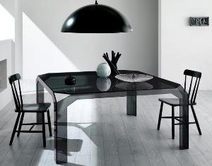Однотонный комплект стол и стулья