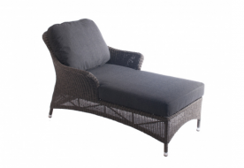 Шезлонг из техноротанга Alexander Rose TEA- MONTE CARLO RELAX LOUNGER WITH CUSHION
