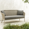Фото №1 - Софа 3-местная Alexander Rose TEA- CORDIAL 3 SEATER SOFA (CURVED TOP) - BEIGE ROPE