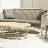 Фото №2 - Софа 3-местная Alexander Rose TEA- CORDIAL 3 SEATER SOFA (CURVED TOP) - BEIGE ROPE
