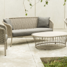 Фото №3 - Софа 3-местная Alexander Rose TEA- CORDIAL 3 SEATER SOFA (CURVED TOP) - BEIGE ROPE