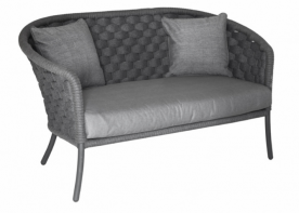 Софа 2-местная из техноротанга Alexander Rose TEA- CORDIAL GREY WIDE 2 SEATER SOFA W.CUSHION