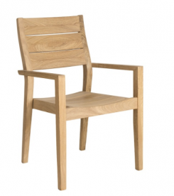 Кресло из дерева Alexander Rose TEA- ROBLE HIGHBACK STACKING ARMCHAIR