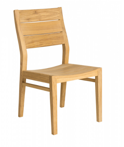 Стул из дерева Alexander Rose TEA- ROBLE HIGH BACK SIDE CHAIR