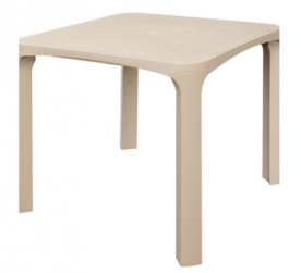 Стол из полипропилена GRANDSOLEIL CA- SQUARE TABLE OLE' RATTAN