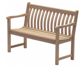 Лавка из дерева Alexander Rose TEA- MAHOGANY BROADFIELD BENCH 1.2M
