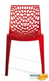 Стул из полипропилена GRANDSOLEIL CA- Chair Gruvyer ROSSA S6316R