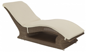 Шезлонг из техноротанга Alexander Rose TEA- SAN MARINO RAISED SUNBED (W/CUSHION)