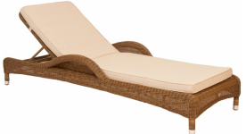 Шезлонг из техноротанга Alexander Rose TEA- SAN MARINO ADJUSTABLE SUNBED (W/CUSHION)