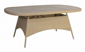 Стол обеденный из техноротанга Alexander Rose TEA- RICHMOND TABLE OVAL 1.8M x 1.1M WITH TIMBER EFFECT SLABS