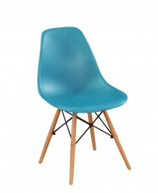 Стул из полипропилена c деревянными ножками VTR- EAMES CHAIR M-05 (синий)